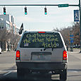 Driving behind the truth