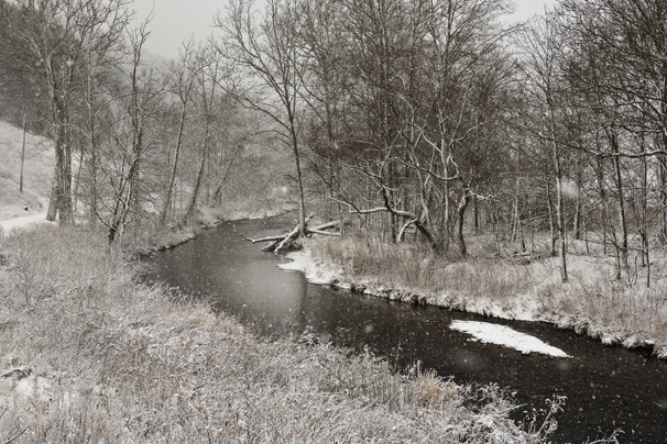 Watauga river snow